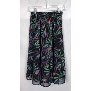 Bettie Page by Tatyana Black Floral Print Skirt XS